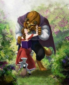 Beauty And The Beast - I sometimes wonder if there were more times that the Beast and Belle were affectionate like this. I know it's a Disney film and they had to fall in love fast, but it'd be interesting to see