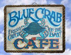 Tropical Beach Ocean Sea Wall Decor Art Prints Blue Crab lalarry Ventage framed #Handmade