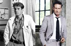 Brett Climo then and now, Dr. David Ratcliffe van The Flying Doctors nu te zien als George Bligh in A Place to Call Home, 26 later