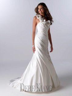 One shoulder simple wedding gown - 11118 wedding dressses, futur dream, dere kiang, weddings, evening gowns, dresses, one shoulder, wedding dress styles, kiang 11118