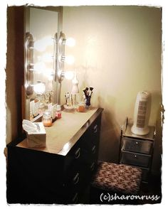 makeup station - little drawers next to vanity (for hair, nails, various)