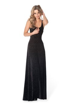 Burned Velvet Maxi Dress, oh, and it's sheer, so be sure to wear a slip or everyone will be able to see your bits!
