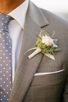 Love this color suit and the tie
