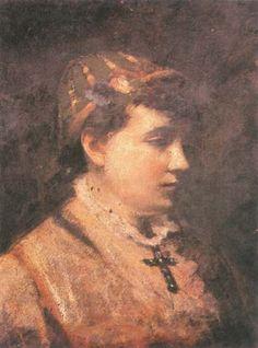Leon Wyczółkowski - Girl in a hat 1888 Realism Art, Figurative Art, Impressionism, Polish, Hat, Paintings, Abstract, Modern, Chip Hat