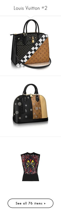 """Louis Vuitton #2"" by deborahsauveur ❤ liked on Polyvore featuring bags, handbags, tops, t-shirts, sleeveless tee, sleeveless tops, structured top, print top, print tees and coats"