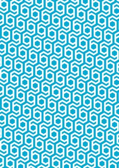 Modern Hive Geometric Repeat Pattern Art Print by Emma Method