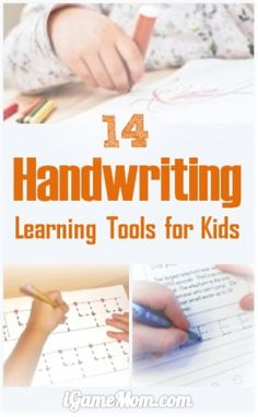 14 handwriting learning and teaching tools for kids to learn penmanship, from pre-writing activities, to tracing worksheets, including learning tools available on tablets like iPad and computer, like apps, websites, as well as programs to use off screen on paper, like cursive tracing, line practice worksheets.