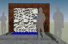 Bienal de Venecia 2014. Propuesta expositiva de murales con paneles duralmond y desarrollo de tecnología de realidad aumentada para contemplar los edificios.