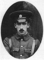 """Limerick man Edward Daly Executed 4thMay 1916 (aged 25) Kilmainham Gaol, Dublin, Ireland for his part in the 1916 Rising. Edward """"Ned"""" Daly (25 February 1891 – 4 May 1916) was commandant of Dublin's 1st battalion during the Easter Rising of 1916. He was the youngest man to hold that rank, and the youngest executed in the aftermath. Kilmainham Gaol, Easter Rising, Great Leaders, Young Man, Irish, Captain Hat, Dublin Ireland, History, Hats"""