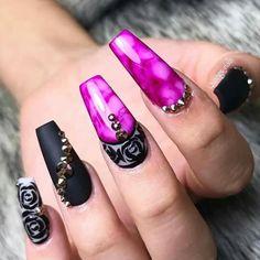 Sharpie Nails, Nail Pro, Nails Magazine, Nails On Fleek, Love Nails, Nails Inspiration, Coffin Nails, Hair Beauty, Sharpies