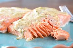 baked salmon with dijon tarragon sauce Salmon Recipes, Fish Recipes, Seafood Recipes, Great Recipes, Cooking Recipes, Favorite Recipes, Healthy Recipes, Salmon Food, Dill Salmon
