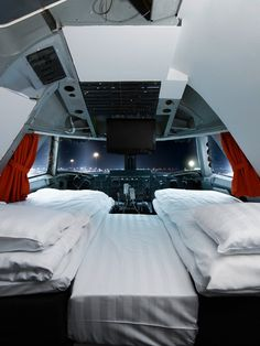 Das Jumbo-Hostel am Stockholmer Flughafen ist eineumgebaute Boeing 747-200 der ehemaligen Fluggesellschaft Transjet.