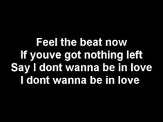 She's going out to forget they were together... all that time he was taking her for granted...~ I dont wanna be in love... Good Charlotte