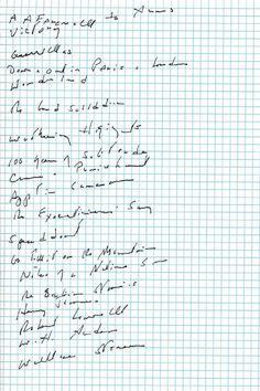 Author Joan Didion's favorite books, in a handwritten #readinglist