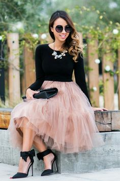 Chicwish Tulle Skirt Lace and Locks