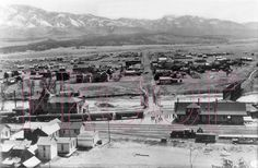 Denver & Rio Grande Western (D&RGW) Salida, CO Depot & Town about 1910