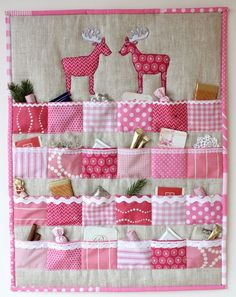 Fantastic Pics Quilting navidad Suggestions You decide to begin quilting. You are unable to put it off to accomplish a person's stunning tapestry maste Christmas Sewing Projects, Diy And Crafts, Christmas Crafts, Diy Projects, Christmas Decorations, Advent Calenders, Diy Advent Calendar, Christmas Makes, Christmas Time