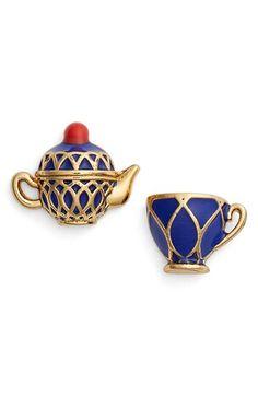 kate spade new york 'tea time' mismatched stud earrings