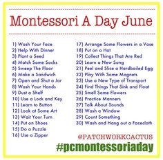 Montessori a day June. jpg montessori activities at home for toddlers