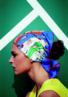 Hermes scarf,  les sportives 2013ss, not sure I am in love with all those faces staring out from the scarf