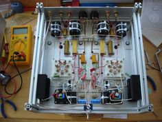 6C33C-B SE Verstaerker von Juergen Buschmann Valve Amplifier, Pedalboard, Vacuum Tube, Electronics Projects, Turntable, Audio, Gardening, Construction, Tools