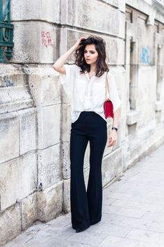 Flared pants are so flattering! Doina Ciobanu the addison story