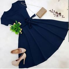 Agda Fernandes💕 y Instagra - vestidos Cute Casual Outfits, Pretty Outfits, Pretty Dresses, Stylish Outfits, Beautiful Dresses, Casual Dresses, Fashion Dresses, Mein Style, Mode Vintage