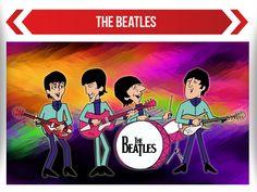 Caricatura de los Beatles