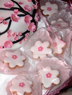 Cherry Blossom Cookies.....baby/wedding shower