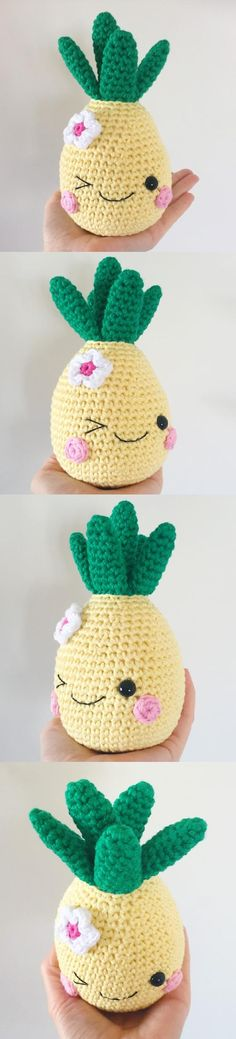 Happy Pineapple Amigurumi Pattern