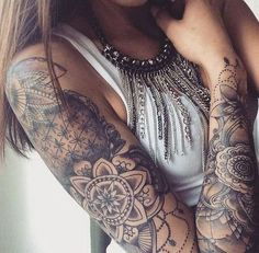 Full Sleeve Tattoo Design for Female.