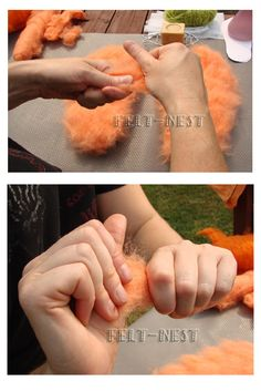 Wet Felting Slippers Tutorial