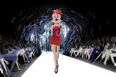 Minnie on the runway