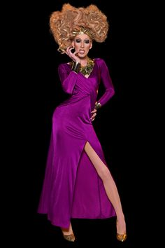 """Alaska  Hometown: Pittsburgh, PA  """"Big, beautiful, and bats**t crazy,"""" Alaska is following in the footsteps of her very famous boyfriend/girlfriend: Sharon Needles. But will living with America's Next Drag Superstar give Alaska a leg up on the competition, or just encourage unfavorable comparisons? Either way, she's got some big pumps to fill."""