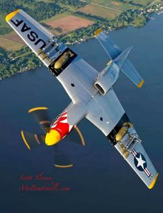 P 51 wing over Ww2 Aircraft, Fighter Aircraft, Military Aircraft, Fighter Jets, Image Avion, Photo Avion, P51 Mustang, Ww2 Planes, Vintage Airplanes