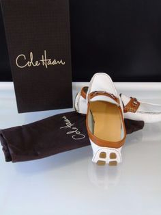 Cole-Haan-Woman-Size-8B-White-SHELBY-BIT-II-Driving-Shoes-Moccasins-Ret-150-New