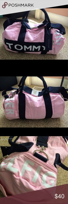 NWT Tommy Hilfiger Pink Mini Duffel Travel Gym Bag
