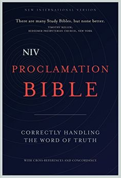 NIV Proclamation Bible: Correctly Handling the Word of Truth by Zondervan http://www.amazon.com/dp/0310437954/ref=cm_sw_r_pi_dp_ZTd9ub0T8WYYP