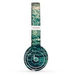 The Rough Water Skin Set for the Beats by Dre Solo 2 Wireless Headphones Dre Headphones, Over Ear Headphones, Disco Party Decorations, Beats By Dre, Objects, Apple, Disney, Music, Fitness