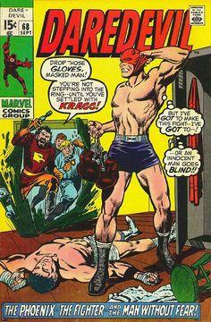 Daredevil # 68 by Marie Severin & Syd Shores