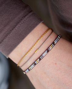 Items similar to Handmade Miyuki dainty beaded bracelet - Lobster clasp - Friendship bracelet - Tiny bracelet - Delicate bracelet - Armcandy - Armparty on Etsy Bead Loom Bracelets, Ankle Bracelets, Ankle Chain, Beaded Anklets, Arm Party, Bijoux Diy, Toe Rings, Loom Beading, Seed Beads