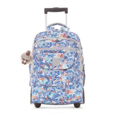 Sanaa Printed Wheeled Backpack