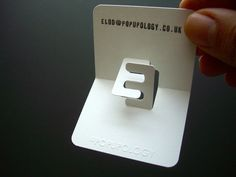 New 3D business card series VI - letters by elod beregszaszi