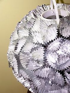 """Disco Ball using mini cupcake liners. Add these to accent the """"main"""" disco ball. Disco Party Decorations, New Years Eve Decorations, Hippie Decorations, Disco Theme Parties, New Year's Eve Crafts, Crafts For Kids, Weekend Crafts, Onda Disco, Fiestas Party"""