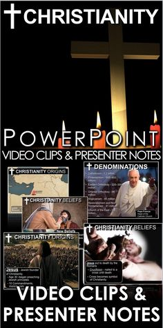 Christianity (World Religions) PowerPoint w/Video Clips + Presenter Notes - ELLİE History Lesson Plans, Social Studies Lesson Plans, World History Lessons, Teaching Social Studies, Teaching History, Jesus Von Nazareth, Video Clips, Jesus Stories, World Religions