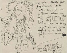 Picasso letter in English ( Written to his friend Gertrude Stain )
