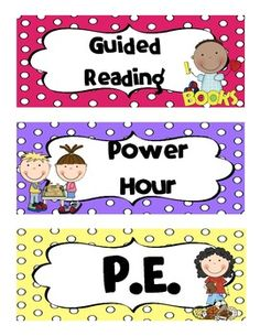 Daily Schedule Labels. TONS of different subjects to display in your classroom. $ #schedulelabels #schedules