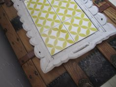 Vintage 70's Tiled Serving Tray with Carved Wood by SomedayViolet, $25 ...