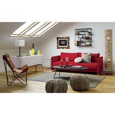 tandom red sleeper sofa in sofas cb2 bedroomdelightful galerie bachmann modular system sofa george