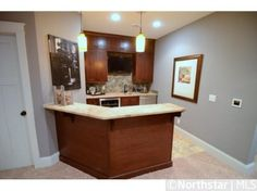 Wet bar in basement! Perfect for Super Bowl parties!